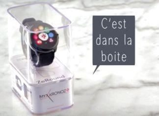 Zeround de MyKronoz montre connectée compatible iOS et Android