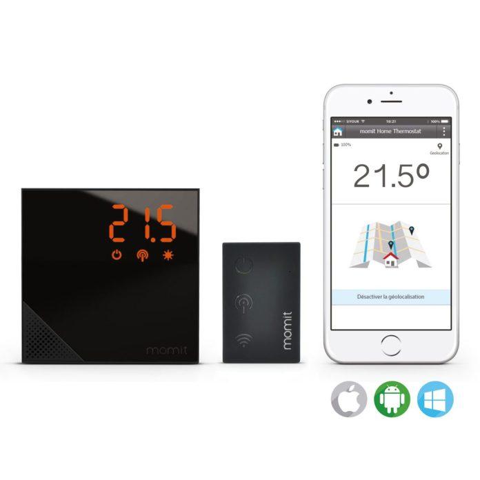 Compatibilité et contrôle du thermostat MOMIT HOME depuis un smartphone