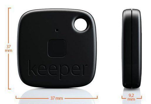 Dimensions du porte clé connecté Gigaset Keeper