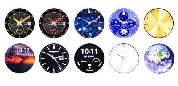 Les différents thèmes d'affichage de la montre intelligente ZGPAX S99A