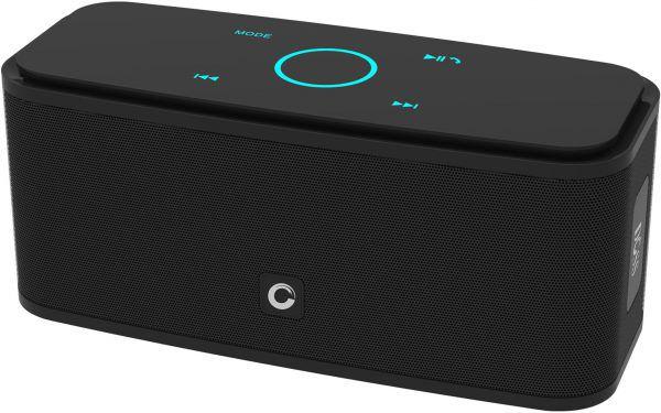 enceinte bluetooth doss soundbox étanche offre un son puissant noir
