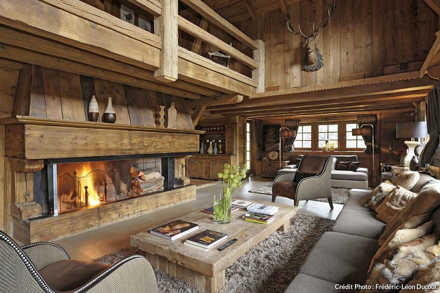 Esprit rustique dans un chalet des Alpes  Maison Crative
