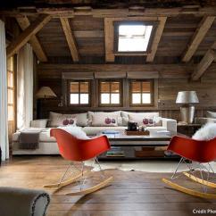 Eames Style Plastic Chair Ikea Wing Le Design Réinvente Chalet De Montagne - Maison Créative