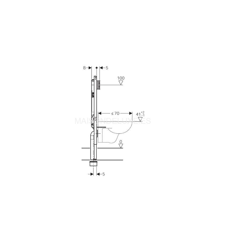 Geberit Duofix cisterna Sigma 8 cm para inodoro suspendido  Maison de Luxe