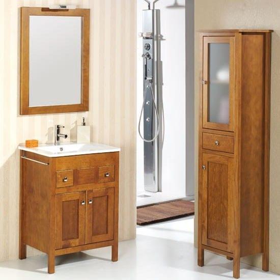 Mueble de bao 2 puertas de madera y 2 cajones Estepona