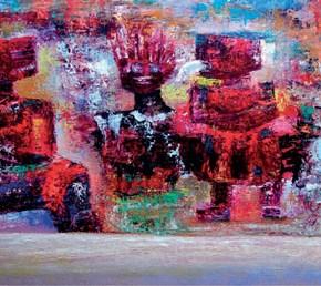 Jhonny Blanco, Peintre bolivien - Regards sur ma culture Ayamara, TIWANAKU - 1 au 31mai 2017