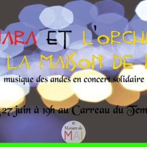 Pukawara & L'Orchestre de la Maison de MAI au Carreau du Temple, mardi 27 juin à 19h