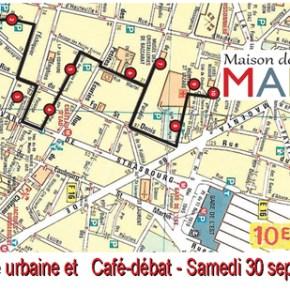 ★ Balade urbaine et ★ Café-débat - Samedi 30 septembre