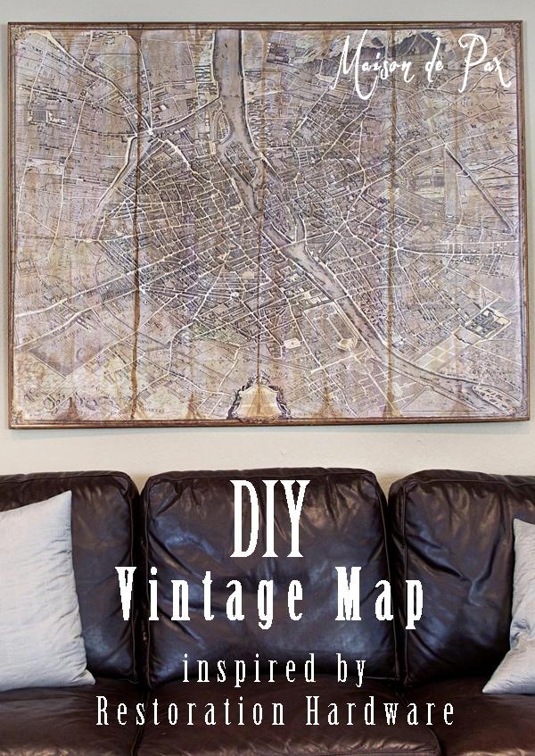 cost of kitchen island counter ideas rh vintage paris map knock off - maison de pax