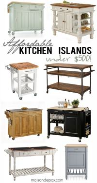 Where to Buy Affordable Kitchen Islands - Maison de Pax