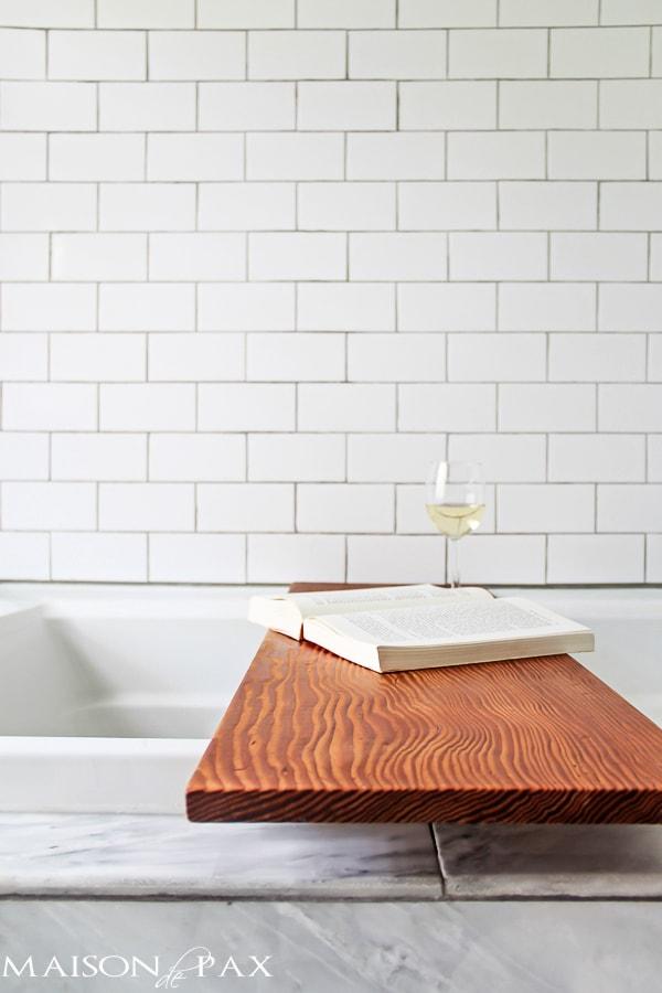 DIY Tub Shelf from Mason de Pax [Weekly Round-Up at High-Heeled Love]