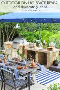 Summer Outdoor Dining Space REVEAL