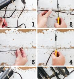 how to turn a hard wire light fixture into a plug in step by step [ 700 x 1282 Pixel ]