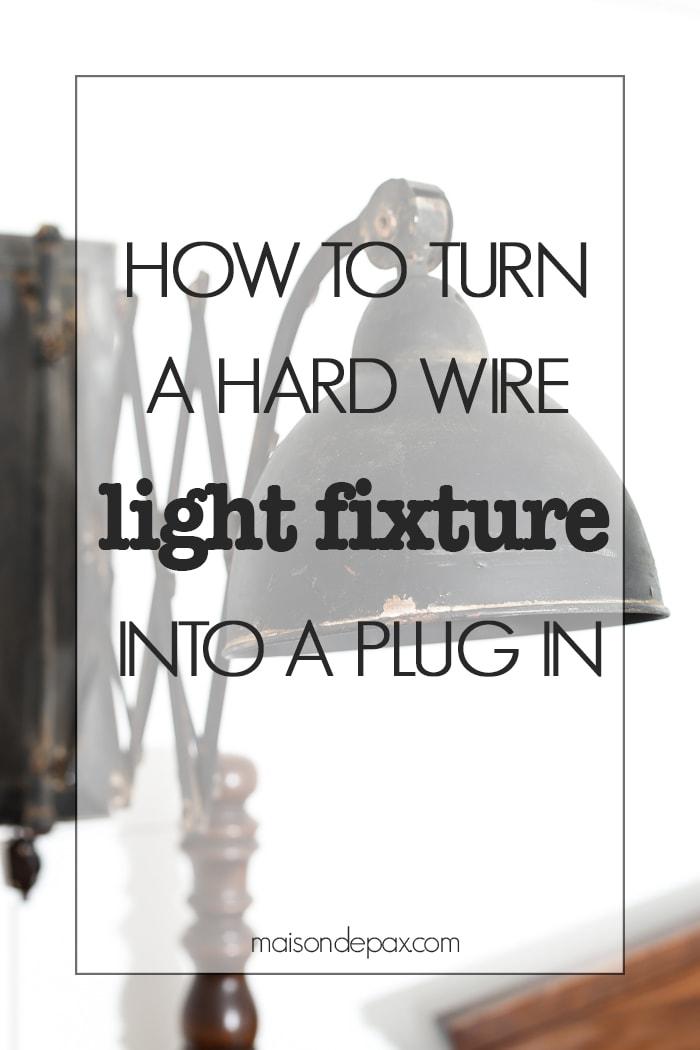 Wiring A Fluorescent Light To A Plug