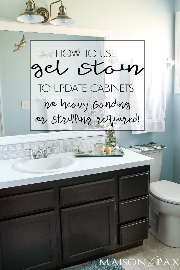 How To Stain Existing Bathroom Cabinets