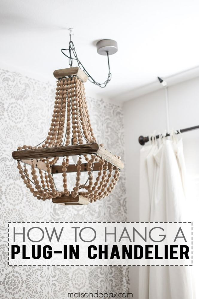 How To Hang A Plug In Chandelier This Is Great Step By Tips