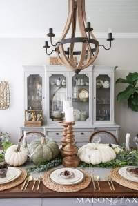 Elegant, Neutral Thanksgiving Table Decor - Maison de Pax