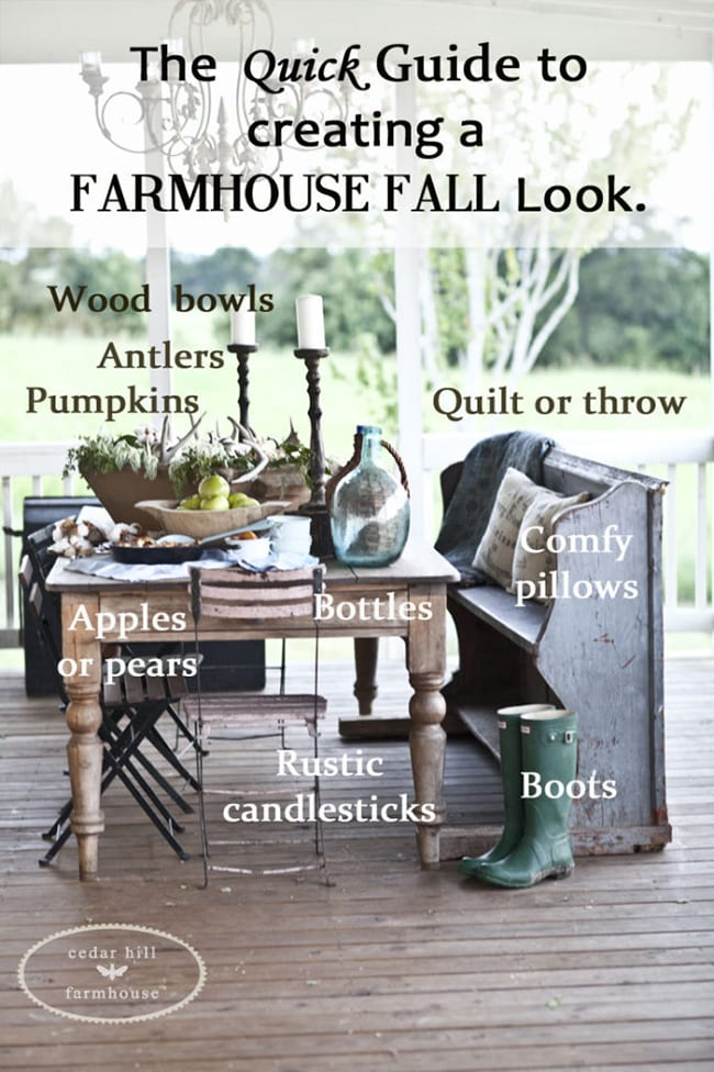 quick guide to decorating: fall farmhouse look