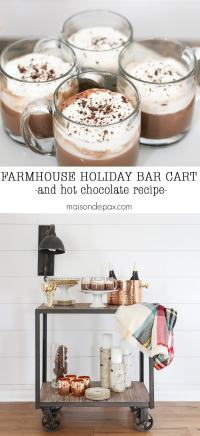 Farmhouse Holiday Bar Cart
