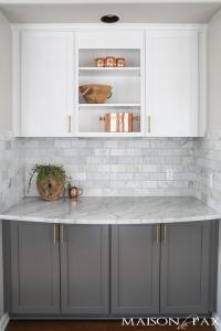 Gray and White and Marble Kitchen Reveal - Maison de Pax