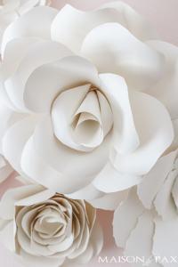 Paper Flower Wall Art in the Nursery - Maison de Pax