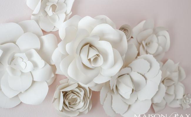 Diy Giant Paper Flowers Tutorial Maison De Pax