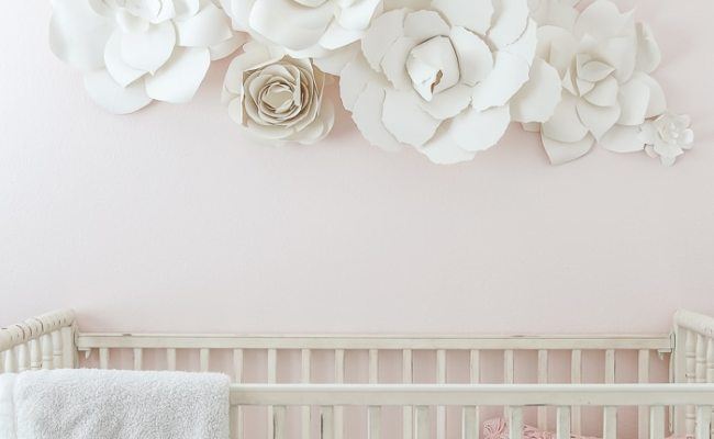 Paper Flower Wall Art In The Nursery Maison De Pax
