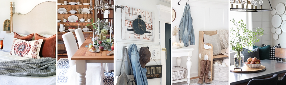 fall into home tour: autumn home tours and fall decorating tips