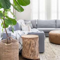 How To Decorate My Living Room With A Sectional Color Schemes Maison De Pax This Light Bright Is Anchored By Large Blue Gray And Accented