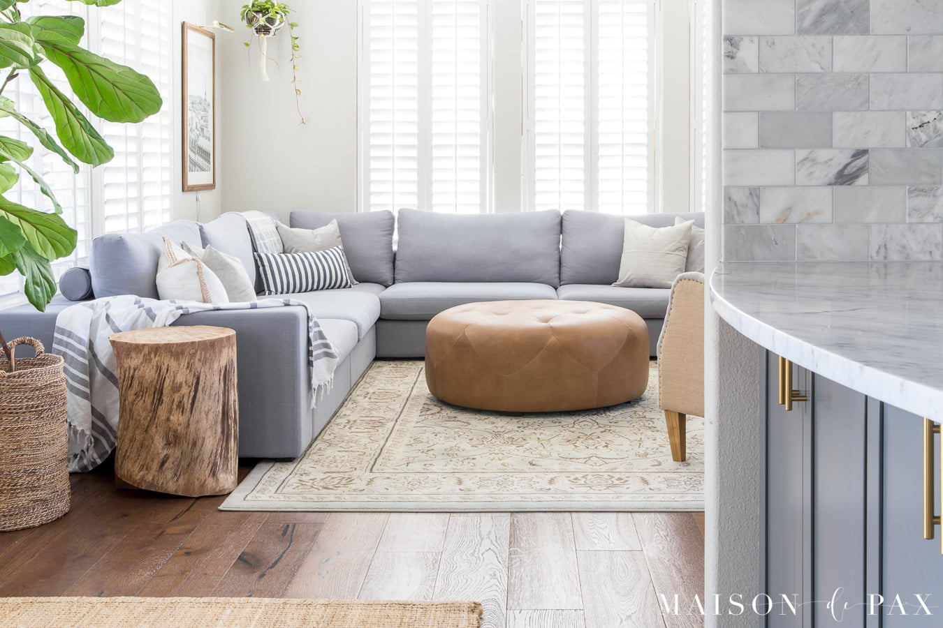 gray couch living room decor contemporary design photos designing a small with large sectional maison de pax bright