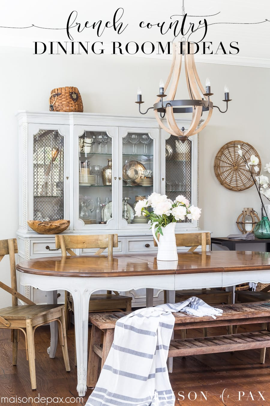 Simple French Country Dining Room  Maison de Pax