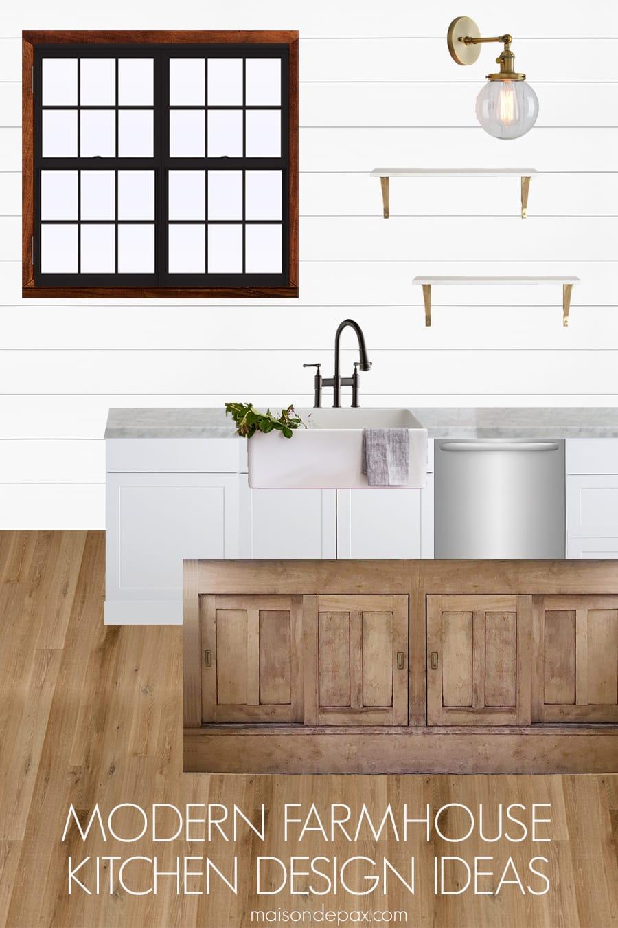 rustic modern farmhouse kitchen design ideas - maison de pax