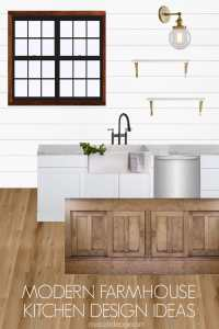 Rustic Modern Farmhouse Kitchen Design Ideas