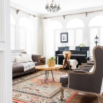 Eclectic Living Room With Colorful Neutral And Vintage