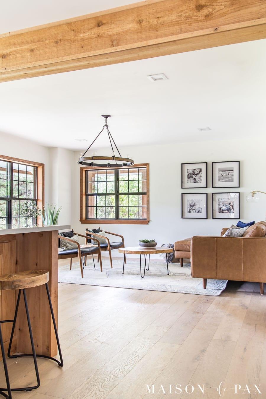 Rustic Modern Farmhouse Living Room Maison De Pax