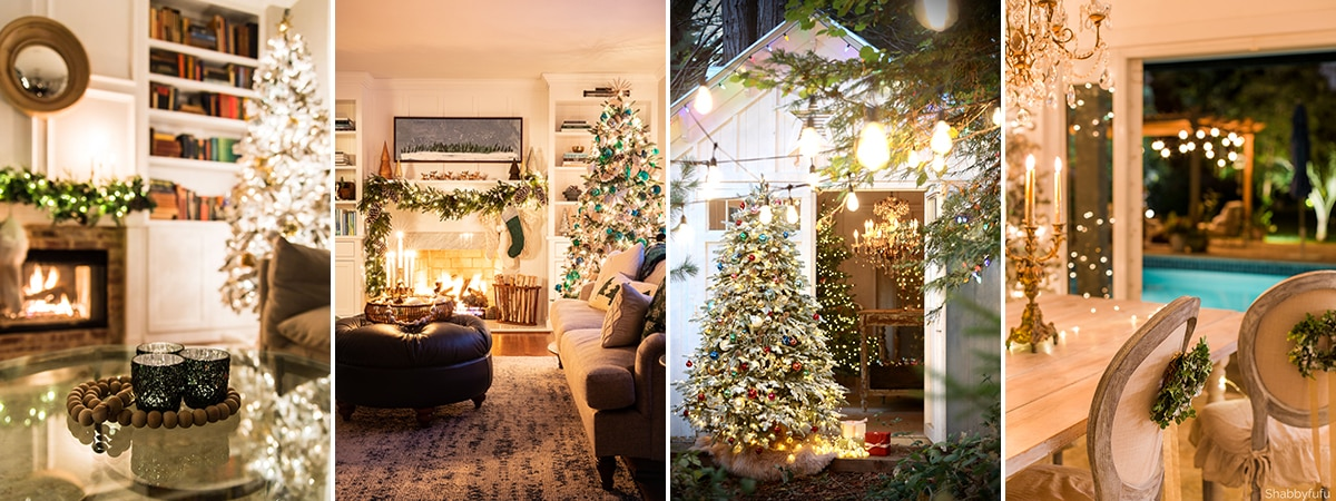 So many beautiful homes decorated with Christmas lights!