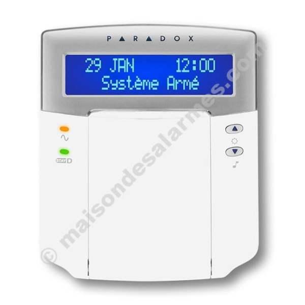 CLAVIER LCD PARADOX K641 (face - fermé)