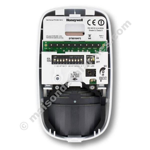DÉTECTEUR DOUBLE TECHNOLOGIE HONEYWELL DT8016AF5 (boitier ouvert)