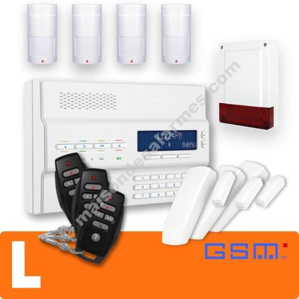 PACK ALARME SANS-FIL GSM (L) Blanc
