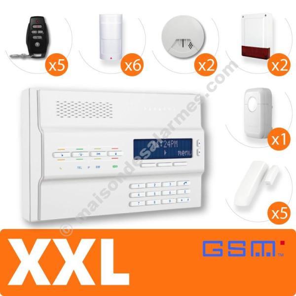 PACK ALARME SANS-FIL GSM (XXL) Blanc