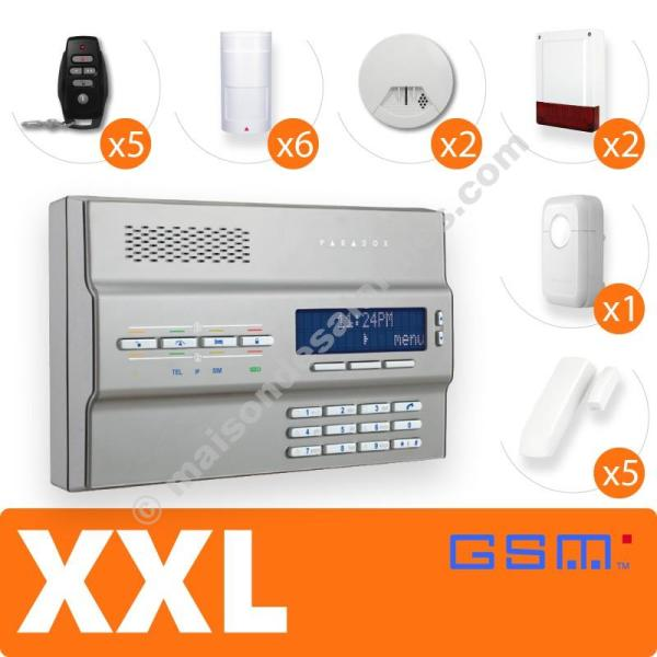 PACK ALARME SANS-FIL GSM (XXL) Gris
