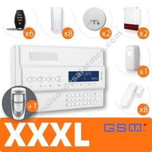 PACK ALARME SANS-FIL GSM (XXXL) Blanc