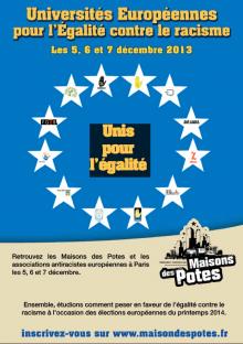 Inscriptions aux Universités Européennes des Maisons des Potes les 5/6/7 décembre à Paris