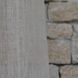 natural linen gauze curtain