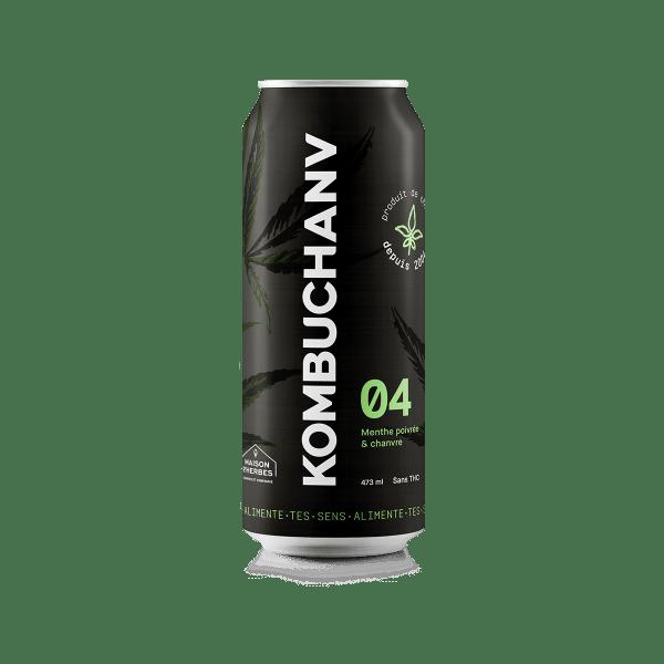 Kombuchanv menthe poivrée 473 ml
