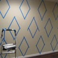 How to paint a diamond pattern on your wall 171 maison d