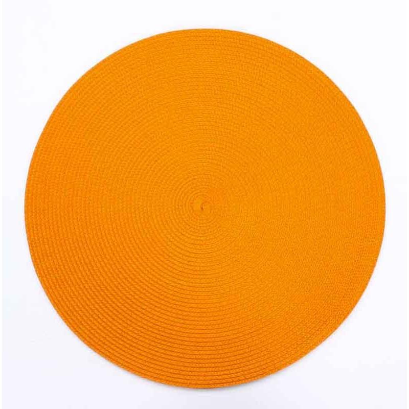 Set De Table Rond 38cm Orange