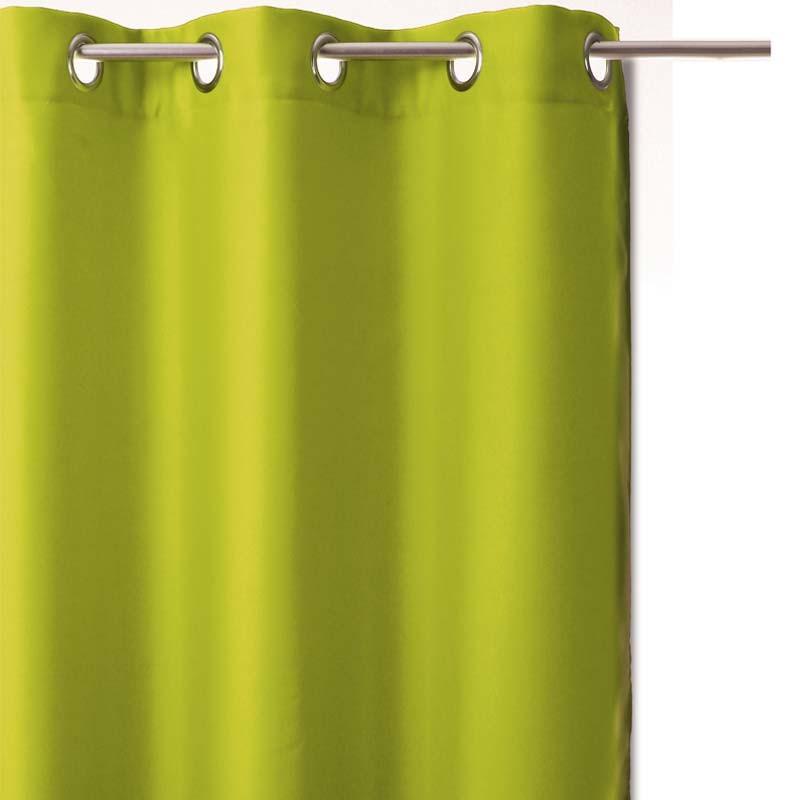 rideau occultant vert anis 140x260