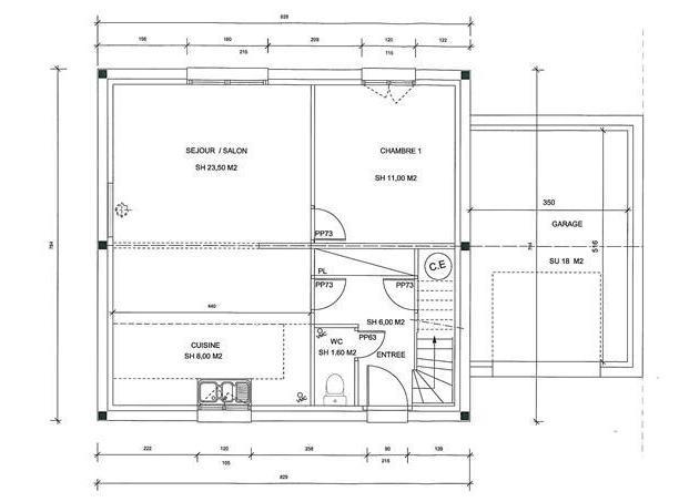Plan Maison De Plain Pied Gratuit Best Plan De Maison Plein Pied En