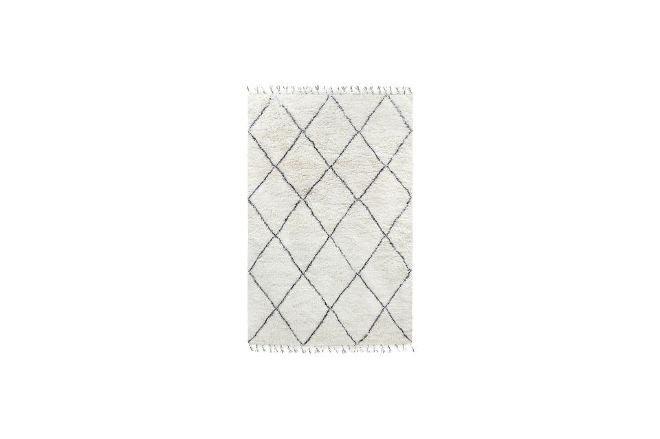 tapis berbere larra en laine noir et blanc hk living